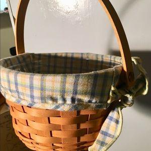 Custom Signed by 4+ Longaberger 2002 Basket EUC